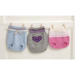 Blöjbyxor, tröja, mössa och sockor  1114-3 Nedladdningsbart