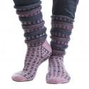 Lila randiga sockor Kit 32194