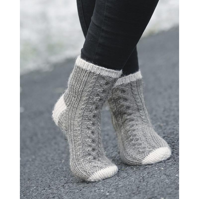 Komplett sats Laban-sokken st 24 - 39 (grå)