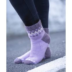 Komplett sats Kick  sokken storlek 33-42  Ljuslila