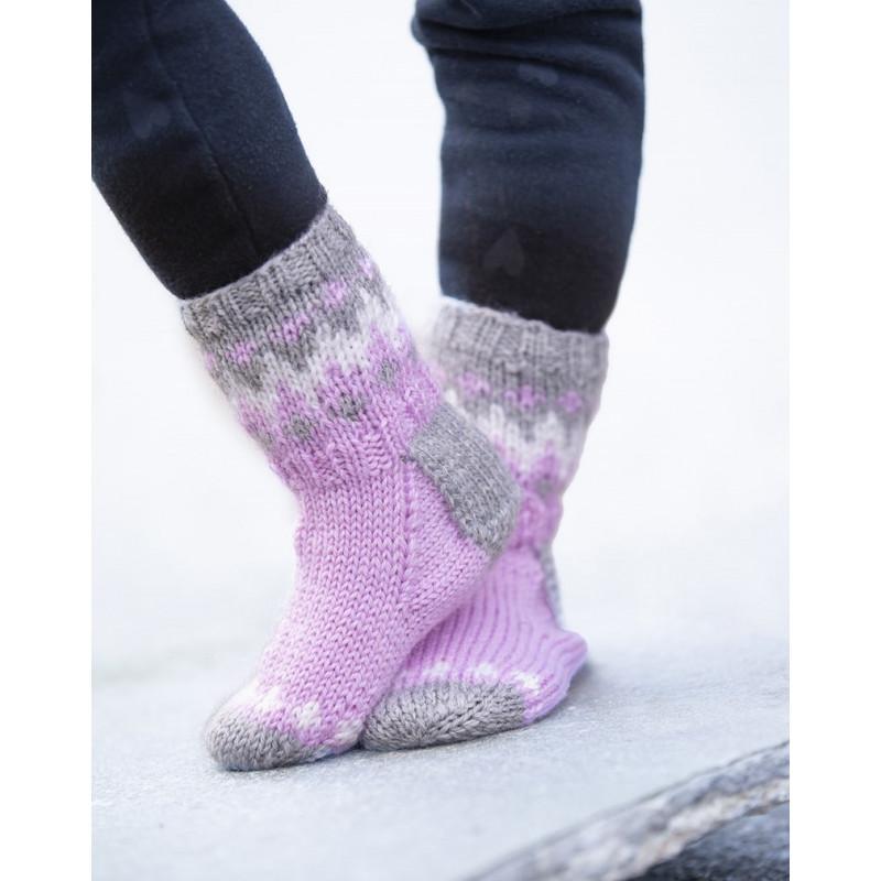 Komplett sats Kick sokken storlek 33-42 Ljusrosa