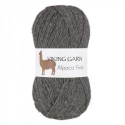 Viking Alpaca Fine 615 Mörk Grå