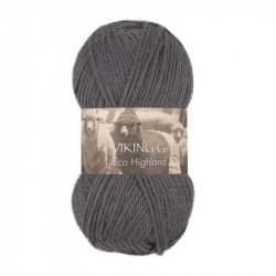 Eco Highland Wool Mörkgrå 214