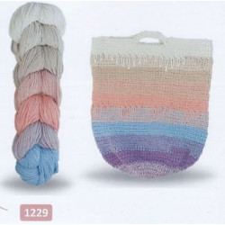 Regenbogen Bag, recycelt 1229 Blå/Beige
