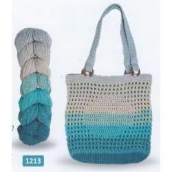 Regenbogen Bag, recycelt 1213 Blå/Turkos/Grå