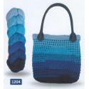 Regenbogen Bag, recycelt 1204 Svart/Turkos/Blå