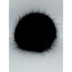 Pälstofsar (Fuskpäls) 10 cm diameter  Svart
