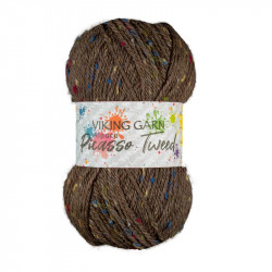 Alpaca Picasso Tweed Brun 908