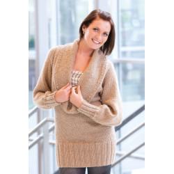 Lång tröja med stor krage 1007-2 Nedladdningsbart