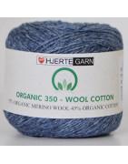 Organic 350 - Wool Cotton.  55% Organic Merino Ull, 45% Organic Cotton