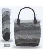 Regenboden Bag, recycelt. Bomullsgarn som återvunnits från gamla kläder.